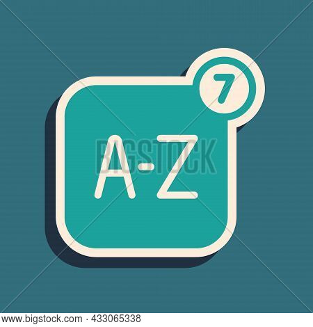 Green Online Translator Icon Isolated On Green Background. Foreign Language Conversation Icons In Ch