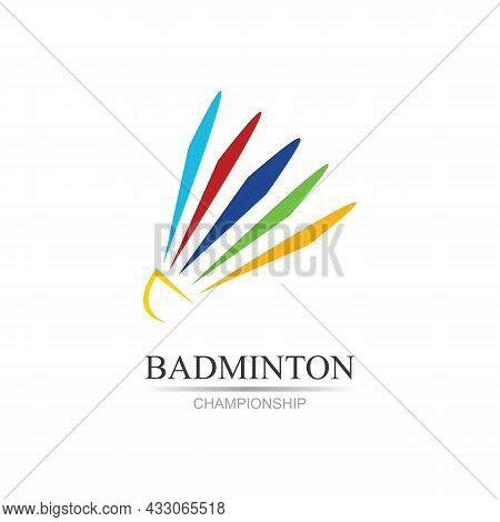 Professional Badminton Sports Team Championship Logo