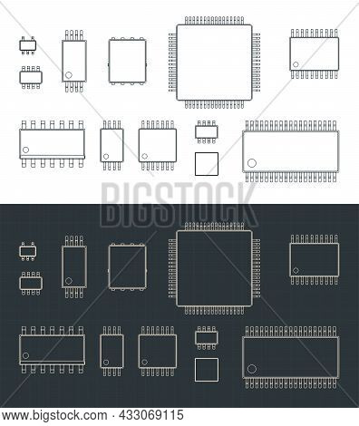 Integrated Circuits Packages Surface Mount Blueprints