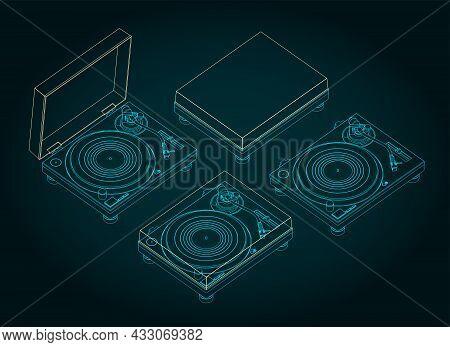 Turntable Vinyl Illustrations