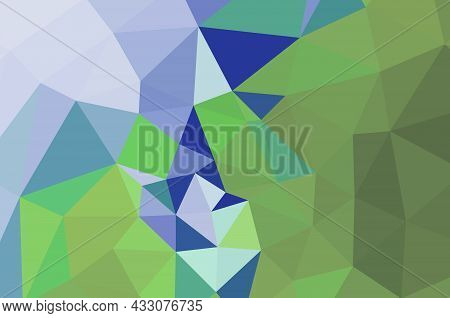 Abstract Triangulation Geometric Dark Green Background ..,application And Web Origami Style