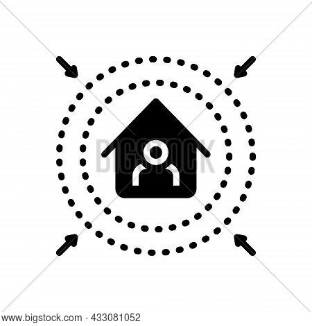 Black Solid Icon For Prevent Intercept Fend Inhibit Clog Avoid Preclude House Protect