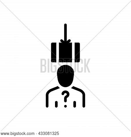 Black Solid Icon For Suspect Unknown Doubtful Screwy Tanked Guess Anonymous Troublesome Suspicious