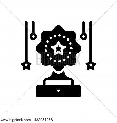 Black Solid Icon For Contest Competition Challenge Celebration Achieve Achievement Award Championshi