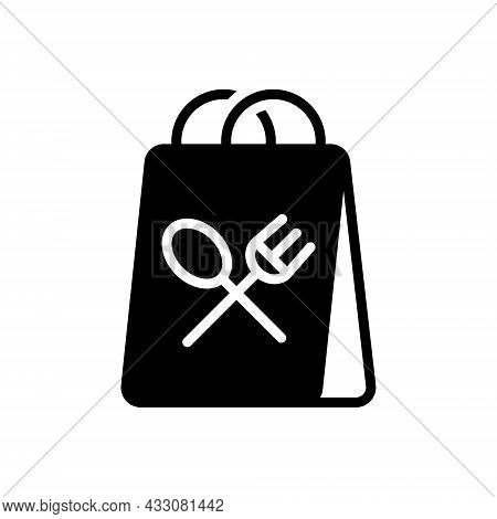 Black Solid Icon For Away Takeaway Food Delivery Package Meal Beverage Fastfood