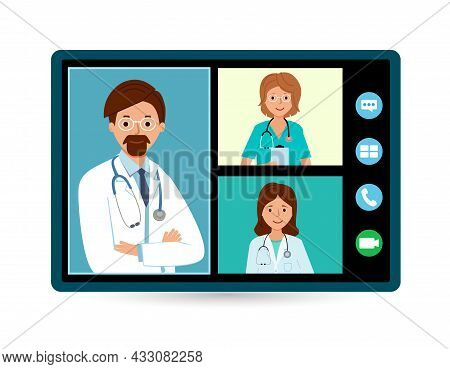 Meeting Doctors Online. Telehealth Medical Consultation. Call Doctor