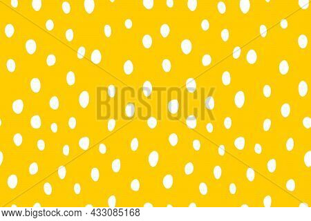 Background Polka Dot. Seamless Pattern. Random Dots, Circles, Spots, Stains. Design For Fabric, Wall