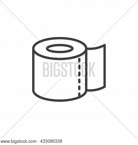 Toilet Paper Roll Line Icon. Linear Style Sign For Mobile Concept And Web Design. Paper Towel, Tissu