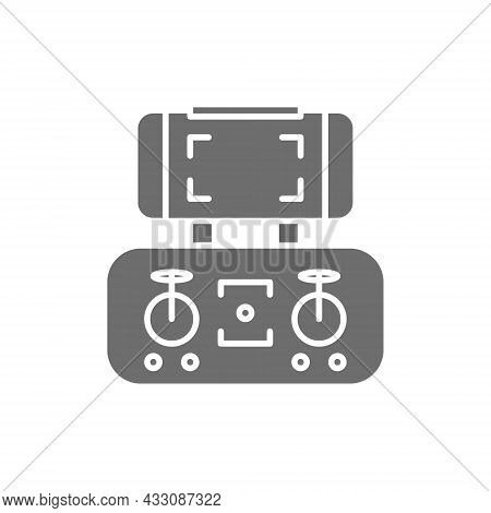Mobile Control Panel For Drone, Remote Controller, Gamepad Line Icon.