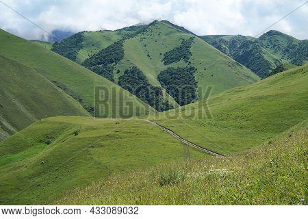 Green Valley. Mountains, Hills, Meadows. Summer, Trip