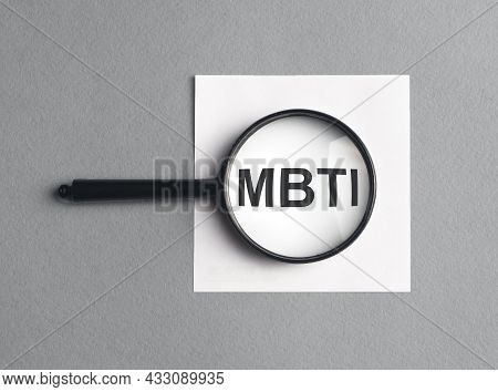 Mbti Acronym Inscription. Psychological Test For Personality Type.