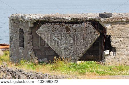 Details Of An Abandoned Naval Base On Iceland (hvítanes, Hvalfjördur)