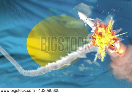 Strategic Rocket Destroyed In Air, Palau Nuclear Missile Protection Concept - Missile Defense Milita