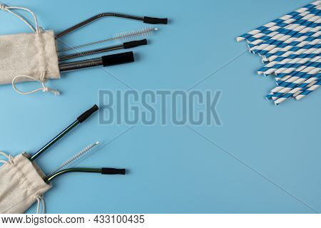 Eco Friendly Drinking Straws. Buying Eco-friendly Products Concept. Compostable Drinking Biodegradab