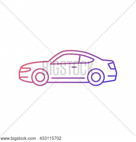 Coupe Car Gradient Linear Vector Icon. Two-door Sports Automobile. Performance-oriented Vehicle. Fix