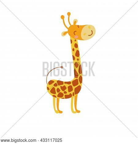 The Giraffe Is A Cloven-hoofed Mammal From The Giraffe Family. It Is The Tallest Land Animal On The