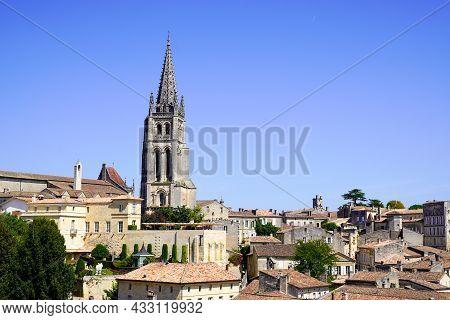 Saint-emilion Historical Unesco Village Of Best Vineyards Of Bordeaux In Southwest France