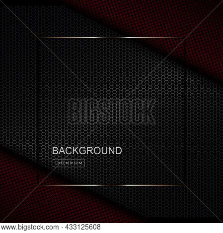 Dark Textured Background, Slanting Curtains In Gray And Burgundy