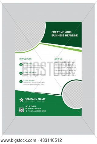 Classical Corporate Business Flyer Design Template Vector
