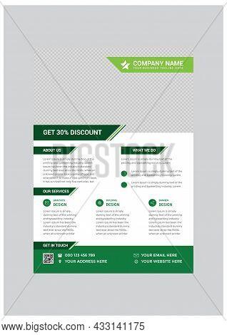 Green Modern Business Flyer Design Template Vector