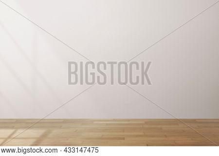 Empty minimal room with gray wall