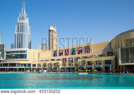 Dubai, United Arab Emirates - 09 December, 2018: The Dubai Mall Is The Largest Mall In The World By