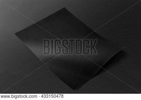 Blank black poster with copy space