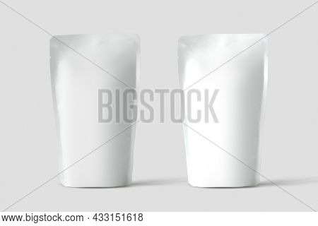 Pouch bag against white background