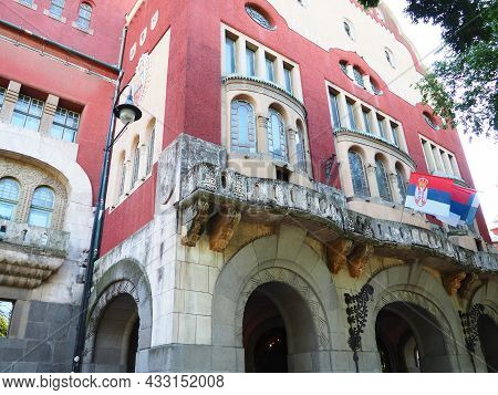 Subotica, Serbia, September 12 2021 City Hall Of Subotica Szabadka In Hungarian Art Nouveau Style, V