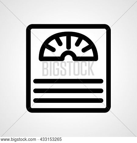 Analogue Weighing Machine Vector Line Icon. Analogue Weighing Machine Linear Outline Icon.