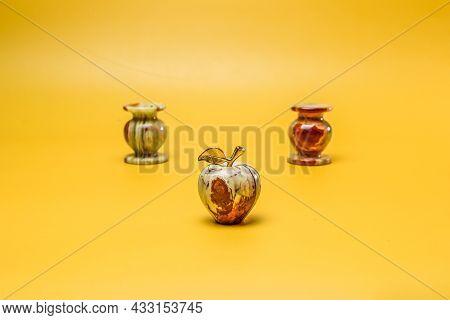 Onyx Stone Apple On Yellow Background Feng Shui