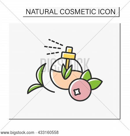 Perfume Color Icon. Fruit-flavored Perfume. Organic Ingredients For Beauty Procedures. Cosmetology.