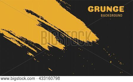 Bright Orange Grungy Background. Colorful Scratched Template. Texture And Elements For Design