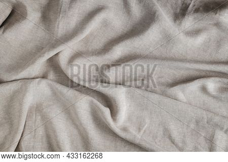 Creased gray fabric textured background
