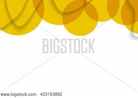 Abstract Background With Colorful Paper Cut Shapes. Design For Poster, Banner, Card. White And Orang