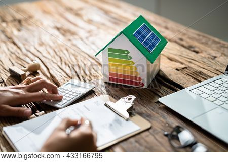 House Energy Audit. Efficient Consumption Invoice And Economy