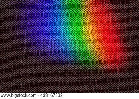 Rainbow Light Spot On Upholstery Fabric Surface