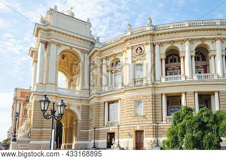 Odessa, Ukraine, September 24, 2019: Odessa State Academic Opera And Ballet Theater.