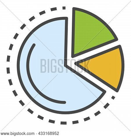 Finance Diagram Icon. Outline Finance Diagram Vector Icon Color Flat Isolated On White