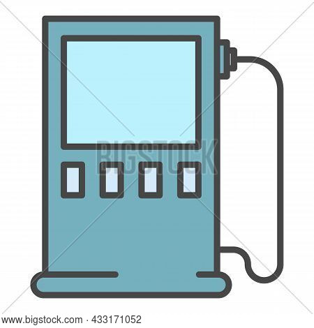 Charging Energy Station Icon. Outline Charging Energy Station Vector Icon Color Flat Isolated On Whi
