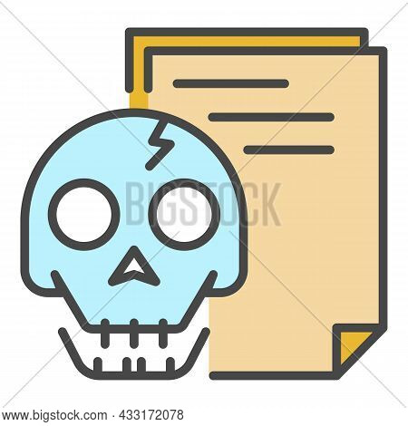 Hack Document Icon. Outline Hack Document Vector Icon Color Flat Isolated On White