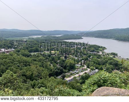 Cold Springs Panorama From The Top Of Breakneck Ridge In Upstate New York On The Hudson