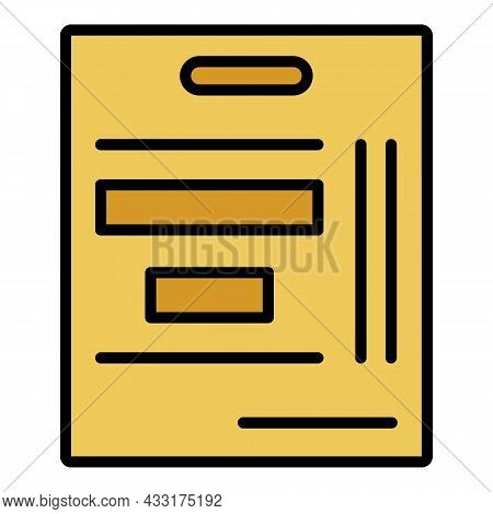 Tactical Hockey Board Icon. Outline Tactical Hockey Board Vector Icon Color Flat Isolated On White