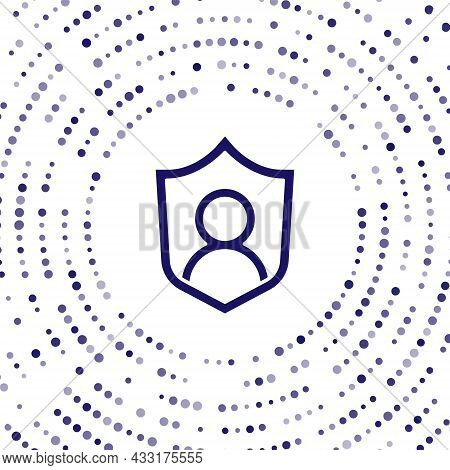 Blue User Protection Icon Isolated On White Background. Secure User Login, Password Protected, Perso