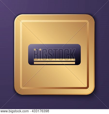 Purple Air Conditioner Icon Isolated On Purple Background. Split System Air Conditioning. Cool And C