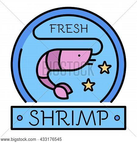 Fresh Raw Shrimp Logo. Outline Fresh Raw Shrimp Vector Logo Color Flat Isolated On White