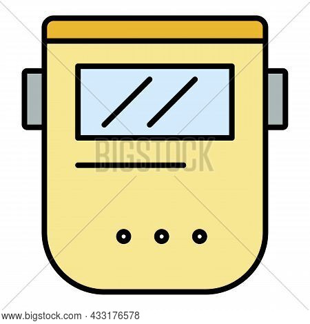 Welder Mask Icon. Outline Welder Mask Vector Icon Color Flat Isolated On White