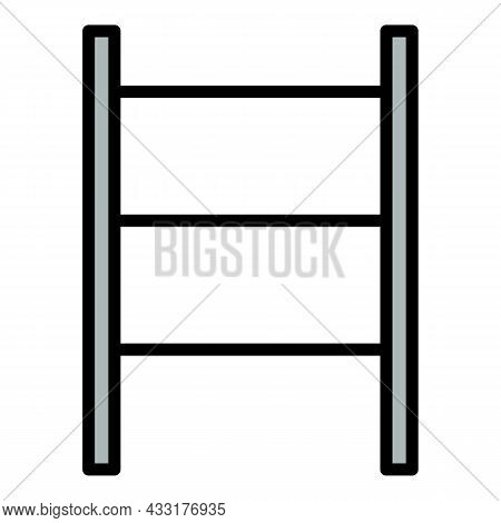 Scaffold Scale Icon. Outline Illustration Of Scaffold Scale Vector Icon Color Flat Isolated On White