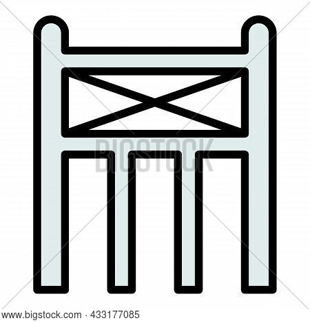 Scaffold Structure Icon. Outline Illustration Of Scaffold Structure Vector Icon Color Flat Isolated