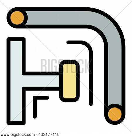 Scaffold Pipe Icon. Outline Illustration Of Scaffold Pipe Vector Icon Color Flat Isolated On White